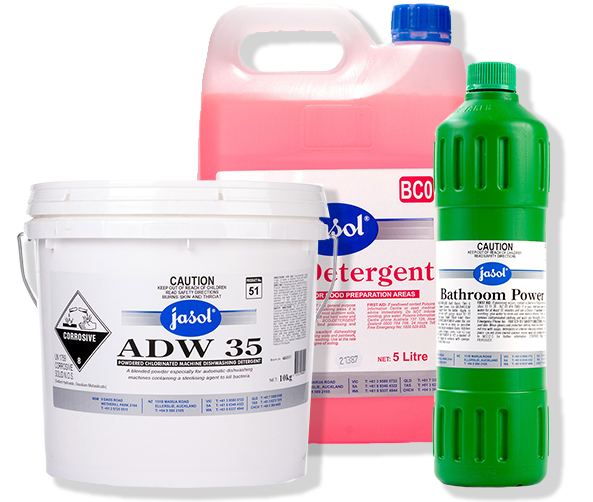 Jasol cleaning chemicals commercial grade